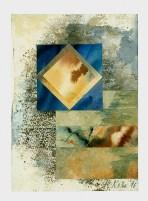 Ursula Kolbe 1990-1999 Watercolour Collages 'Lisbon Memory II'. Watercolour on paper