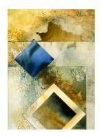 Ursula Kolbe 1990-1999 Watercolour Collages 'Lisbon Memory III'. Watercolour on paper