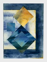 Ursula Kolbe 1990-1999 Watercolour Collages 'Lisbon Memory VI'. Watercolour on paper