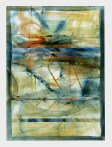 Ursula Kolbe 1990-1999 Watercolour Collages 'Threads II'. Watercolour on paper