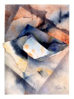 Ursula Kolbe 1990-1999 Watercolour Collages 'Untitled'. Watercolour on paper