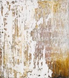 Ursula Kolbe 2007 'Enigma III'. Beeswax, oil, oil stick on board 34x30cm