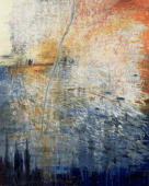 Ursula Kolbe 'Unravelling Story I'. Oil and oil stick on canvas 150x120cm