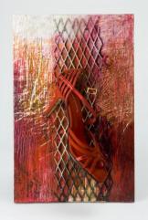 Ursula Kolbe 'Mi Noche Triste VII Wendi's Shoe'. Found materials, mixed media 43x27x11cm
