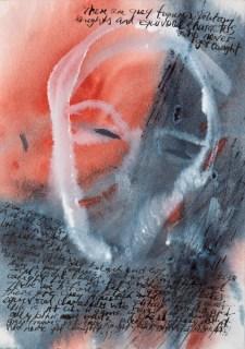 """Watcher II"" Gouache, ink on 21 x 14 cm Arches"