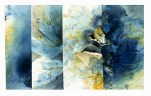 Ursula Kolbe 1990-1999 Watercolour Collages 'Wind'. Watercolour on paper