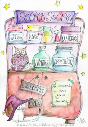 The secret store ... selling dreams, courage, love and inspiration