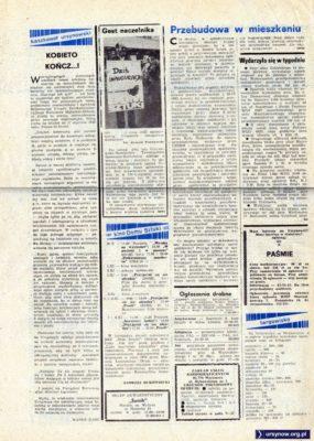 """Tygodnik """"Pasmo"""", nr 1, str. 8"""