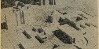 Makieta dziesięciotysięcznika przy Stokłosy