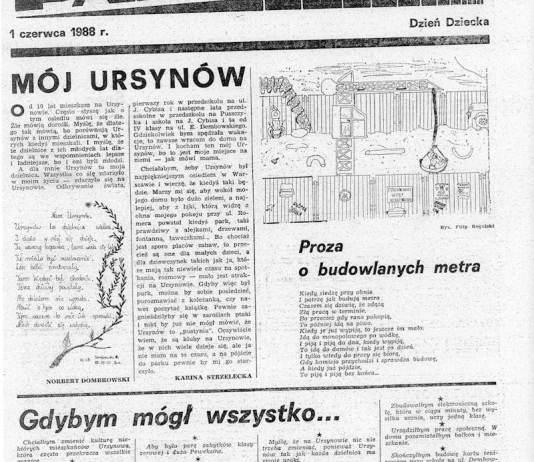 """""""Pasmo"""" na Dzień Dziecka w 1988"""