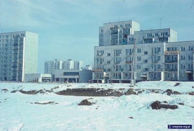 Początek 1978 roku, wiok na Koński Jar z podnóża powstającej Kopy Cwila. Fot. Włodzimierz Witaszewski.