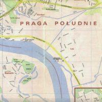 Plan PPWK z 1974 roku: Siekierki, puste pole pod osiedle na Gocławiu. Tramwaj do Wilanowa już zlikwidowany. Źródło: trasbus.com