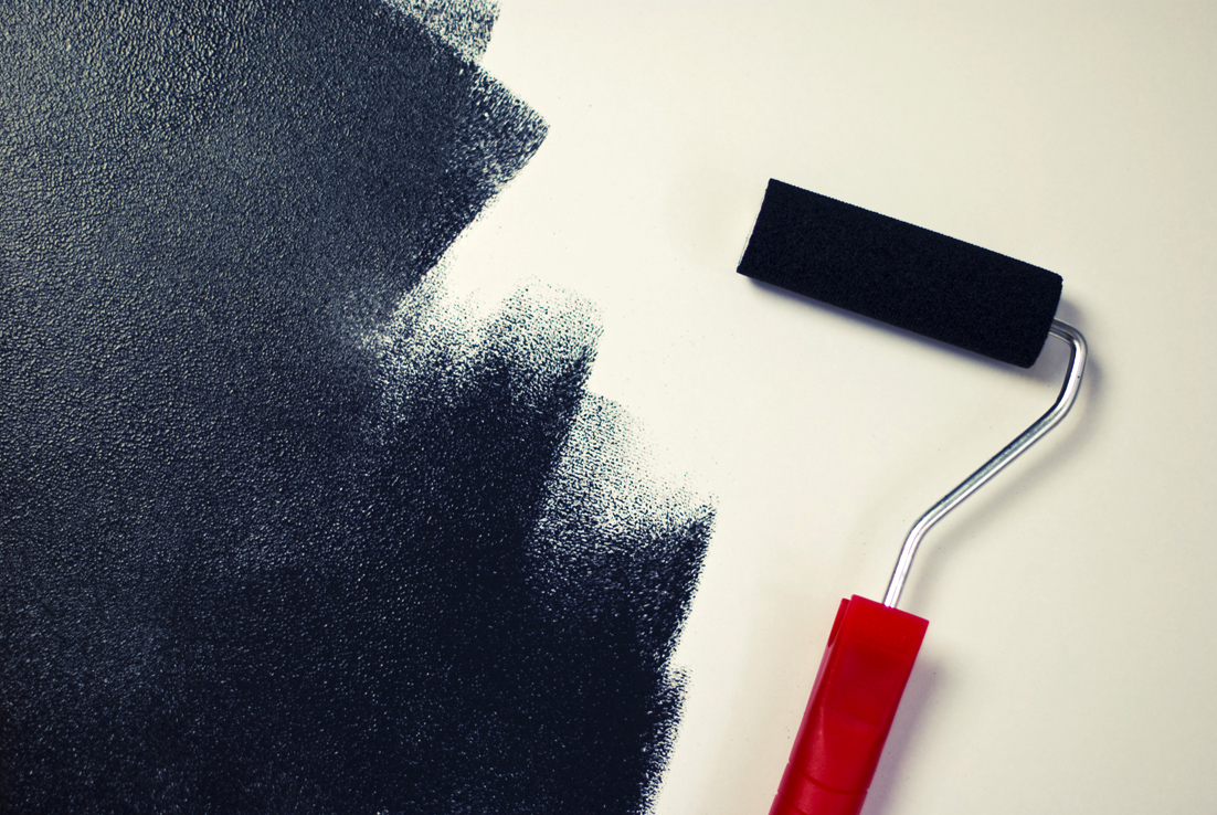 black-paint-roller pexels
