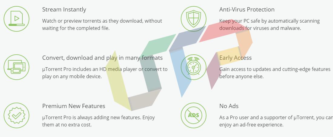 uTorrent Pro Features