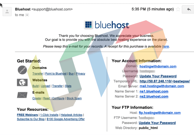 WordPress Webhosting Bought-