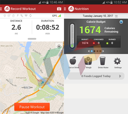 Map My Ride GPS Cycling Riding Android Fitness Apps