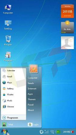 Windows 7 launcher