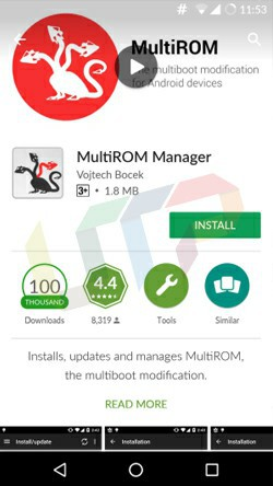 Flash Multi ROM on Android