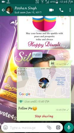 Send Live Location on WhatsApp