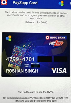 Indian Virtual Credit Card