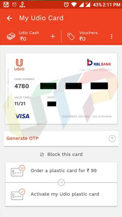 Online Virtual Card