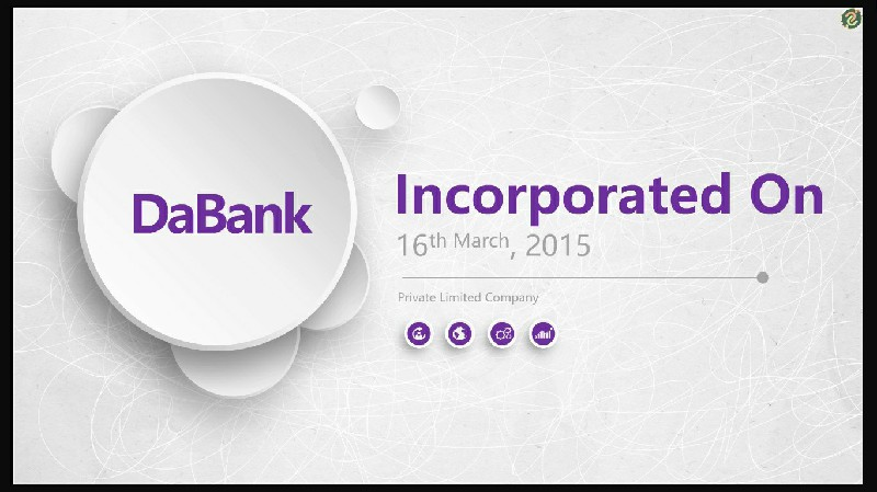 DaBank - Incorporated On