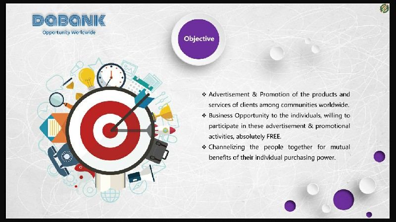 DaBank - Objectives