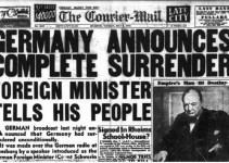 peristiwa menyerahnya jerman dalam perjanjian postdam dimuat dalam koran