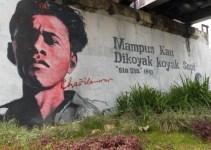 lukisan chairil anwar sang maestro puisi pada dinding