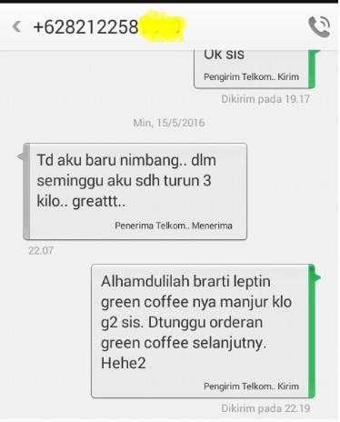 jual kopi hijau green coffee testimonial yang tersimpan