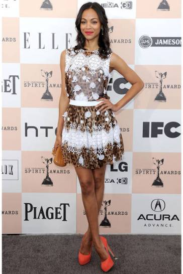 2011Independent Spirit Awards in a Dolce & Gabbana dress with Brian Atwood pumps.