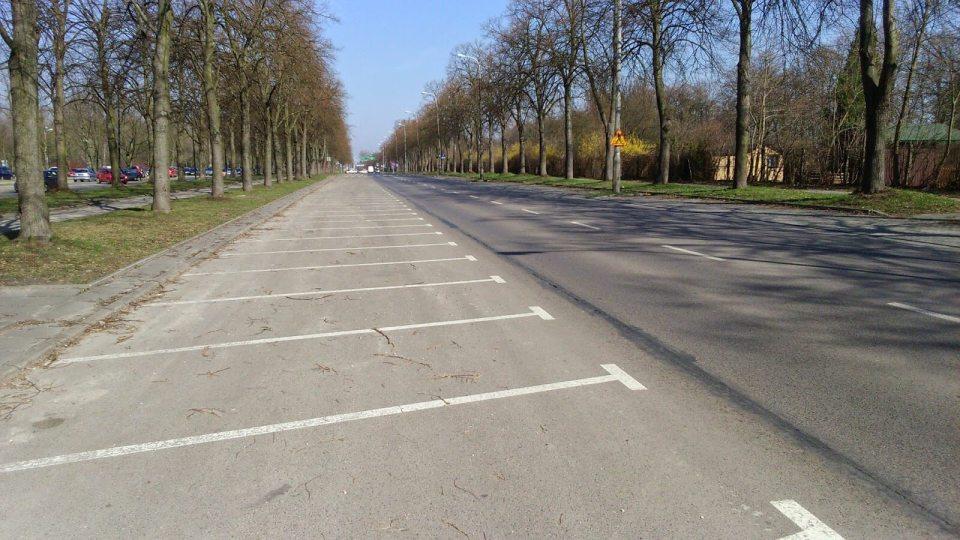 ulica w Łodzi, start maratonu DOZ, Aleja Unii