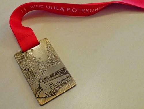 medal 13 Bieg Ulicą Piotrkowską