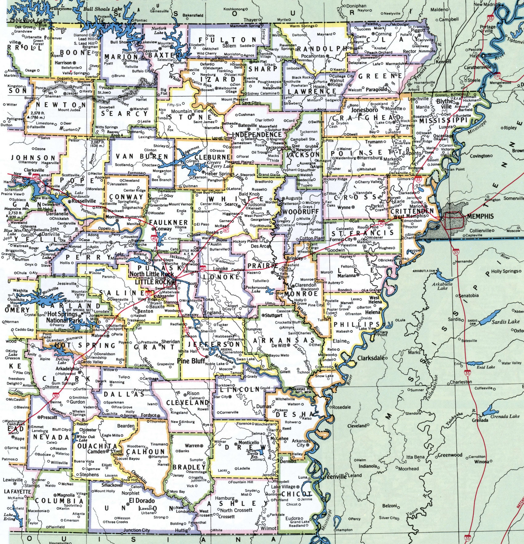 31 innovative Arkansas State Map With Cities bnhspinecom
