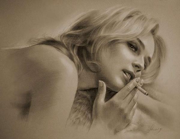 actress pencil drawings 5
