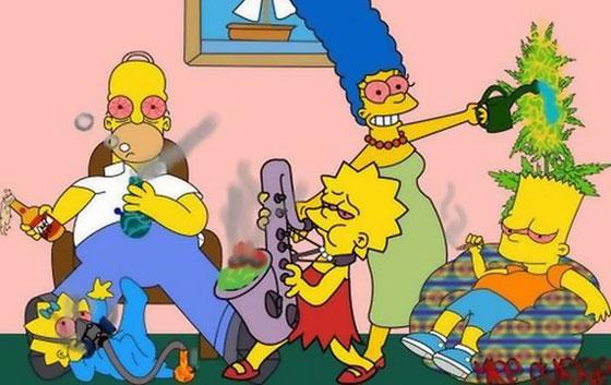 Simpsons Weed Humor