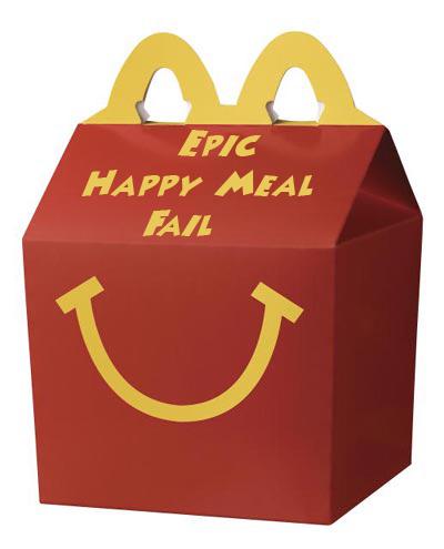 happy meal box head