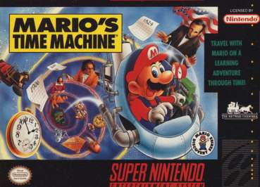 snes marios time machine box front