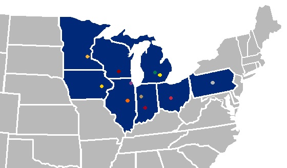 Big Ten Map