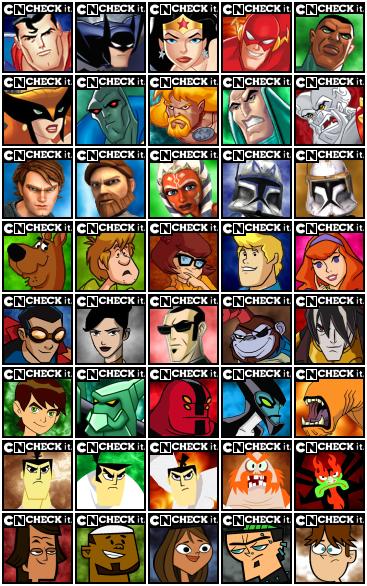 Choose Your Facebook Cartoon Avatar