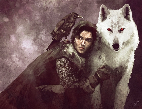Jon Snow and Ghost 1