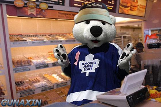 Toronto Mascot Calrton Tim Hortons