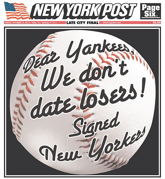Yankee ALCS loss New York Post