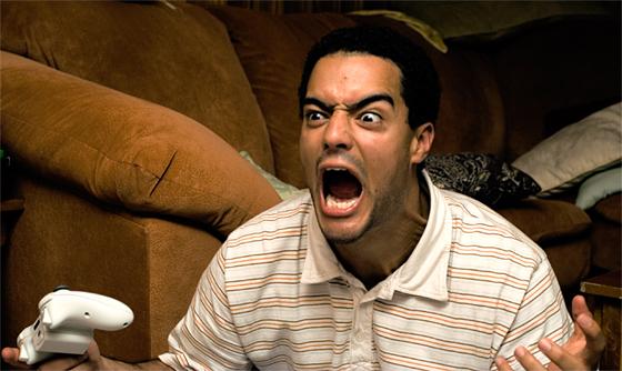 frustrated gamer