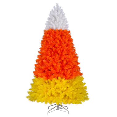 candy corn christmas tree 2