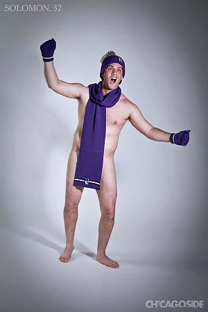 Naked Northwestern fan