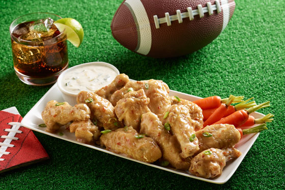 Glazed Wings Football