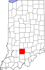 Lawrence County, Indiana places and people