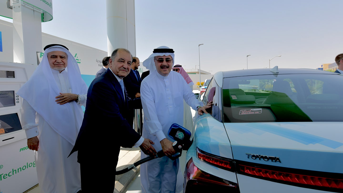 Saudi Aramco Inaugurates First Saudi Hydrogen Fueling Station