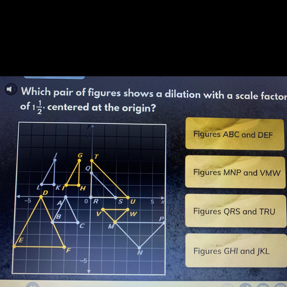 Which Pair Of Figures Shows A Dilation With A Scale Factor